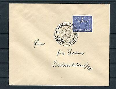 Bedarfsbrief Dr Mi.-nr. 698 Ef Deutsches Derby Hamburg-oschersleben - B3521