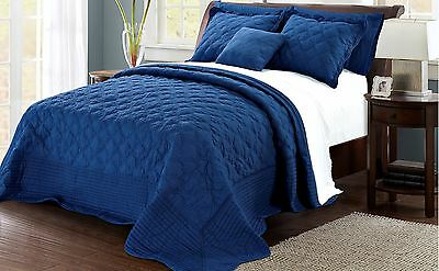 Serenta Quilted Cotton 4 PCs Bedspread Set