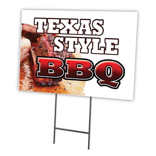 "BBQ PULLED PORK 18/""x24/"" Yard Sign /& Stake outdoor plastic coroplast window"