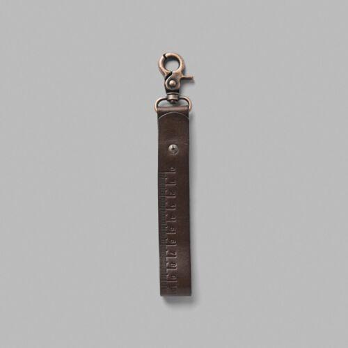 NWT G-Star Raw Wairdon Leather Keychain Hanger Black Brown Belt Key Chain New