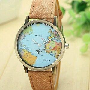 2017-Earth-World-Map-Watch-Alloy-Women-Men-Analog-Quartz-Wristwatches-Gift-Hot