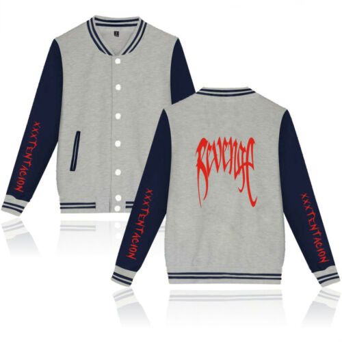 XXXTENTACION Baseball Uniform Coat mens womens Jacket College University Coat