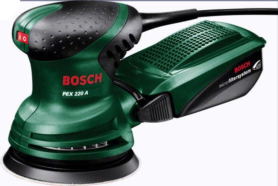 BOSCH Exzenterschleifer PEX 220 A + Micro-Filtersystem