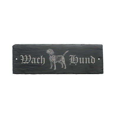 Gehorsam Schild Wachhund « Beagle » Türschild Hunderasse Hundeschild Hundehütte Geschenk
