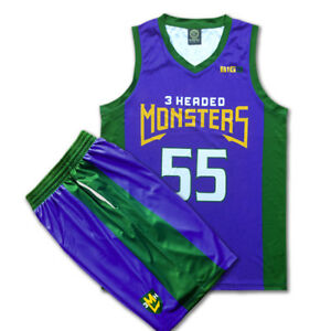 size 40 6fcc3 0f365 Details about Jason Williams BIG3 3 Headed Monsters Kings shirt jersey and  shorts Sz S-2XL