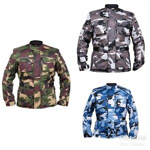 Messieurs-Camo-Vert-Blanc-bleu-moto-veste-motard-pendant-Veste-etanche-Armee-Veste