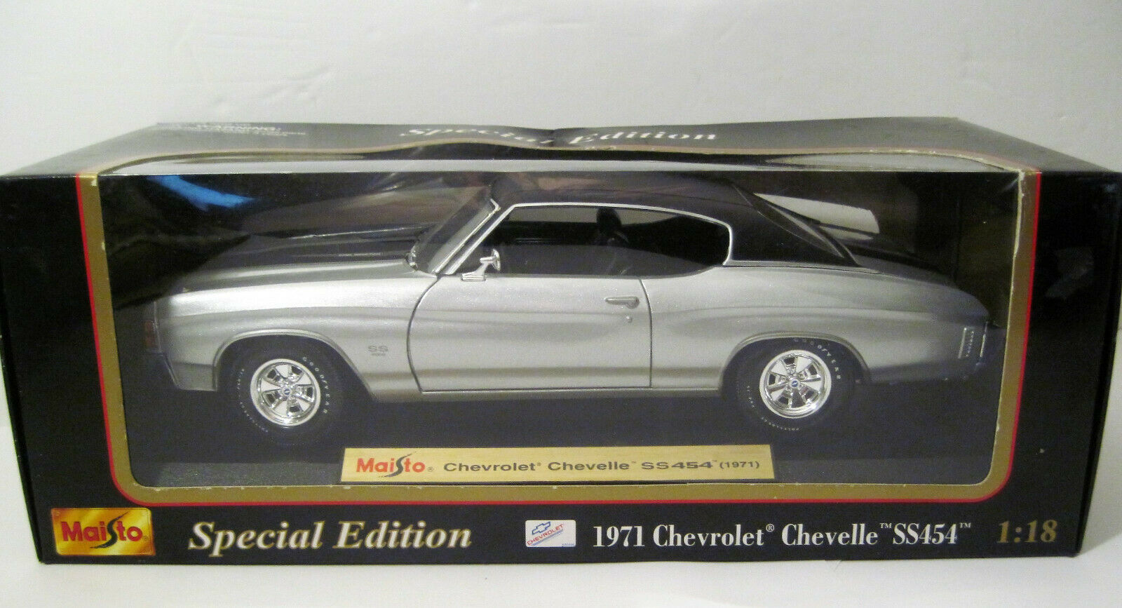 RARE Special Edition NEVADA Silber 1971 Chevelle SS 454 Coupe Hot Rod 1 18 MIB