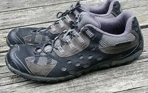 61ad70071 Merrell J073745 NEPOTI Men's Black Smooth Pro Hiking Trail Shoes ...
