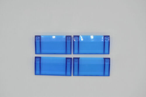 Lego 4 x planos inclinados piedra 3x6 33 grados transparente azul oscuro 3939 set 6922 6479 744