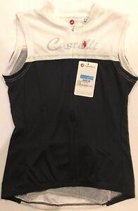 NEW Castelli Women s Black   White Promessa Sleeveless Cycling ... 54afeae0c