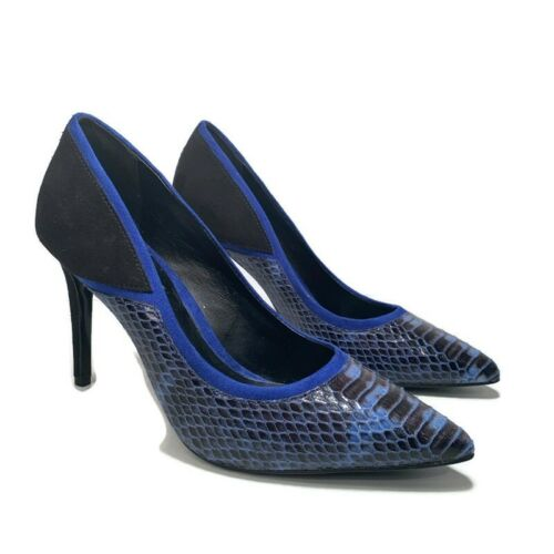 ALDO Colorblock Stiletto US 6 Cobalt Blue And Blac