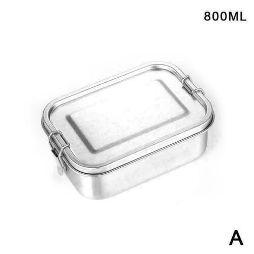 Metall Bento Box Edelstahl Lunch Box Auslaufsichere Q5S2 mit Box Verschluss X1V8