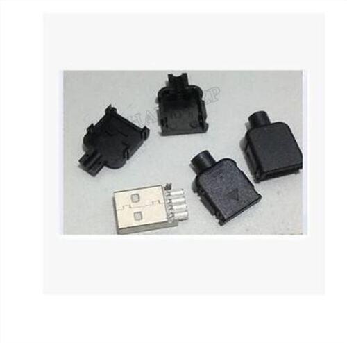 5Pcs USB2.0 Type-Une Prise Mâle 4 Broches Adaptateur Connecteur Jack Couver ak