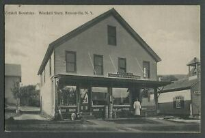 Hensonville Windham NY: 1907 Postcard WINCHELL BROS. STORE Choice Meat, Provisio