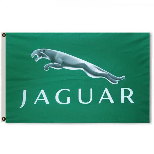 JAGUAR Car Flag Banner 3X5Feet Green Man cave