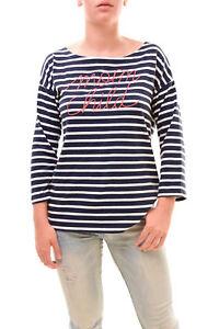 donna manica a bambina Bcf78 1 Luna Maglietta Taglia Rrp da US 99 lunga Bianco Blu Navy da 1HRwnFqA