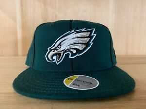 on sale a9e54 ffbb5 Image is loading NEW-ERA-VINTAGE-PHILADELPHIA-EAGLES-FITTED-HAT-CAP-