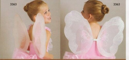 NWT Lot of 3 Nylon Glittered Fairy Wings Ice Pink One Size