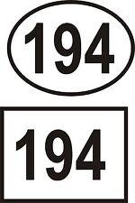 2  House Office Sign Door Numbers Self Adhesive Vinyl Decals Stickers