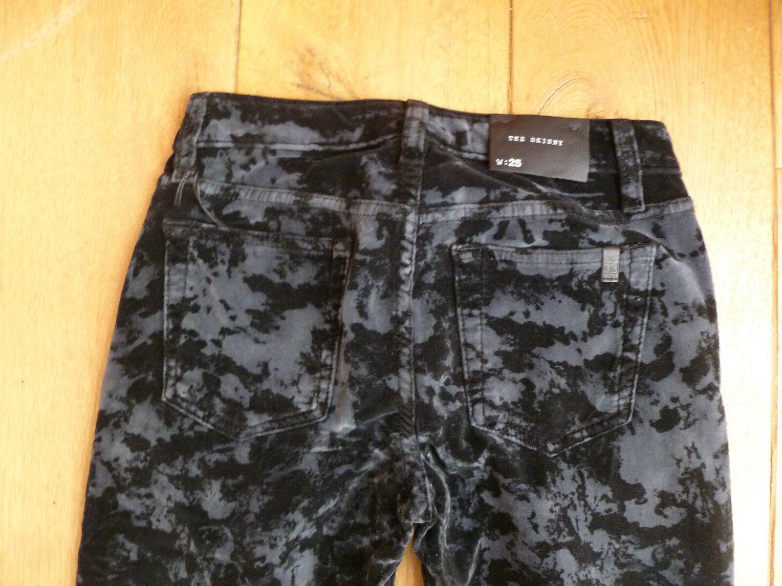 JOE JOES gli Skinny'S nero grigio modello modello modello jeans in Velluto Pantaloni 25 vita XXS 152ab6