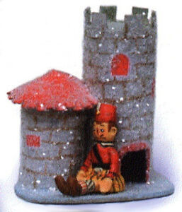 POLIWOGGS-MINIATURE-CHRISTMAS-VILLAGE-TOY-SOLDIER-CASTLE-Retired