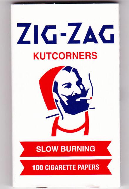 ZIG-ZAG KUTCORNERS SLOW BURNING 100 ROLLING PAPERS 1 PACK