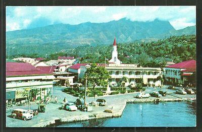 Papeete Buildings Cars Tahiti Polynesia 1957