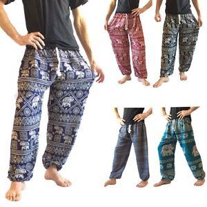 ccbac1812e1fd4 Men's Harem Pants, Drawstring One Size Yoga Elephant Pants Baggy ...