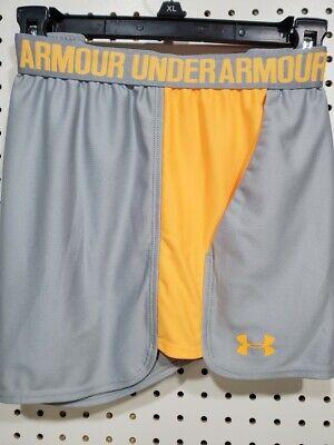 Womens TEK GEAR Shorts NEW Gray Orange Athletic running sports 2X