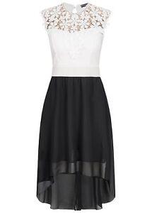 50-OFF-B18067725-Damen-Violet-Kleid-Haekelbesatz-Brustpads-2-lagig-weiss-schwarz