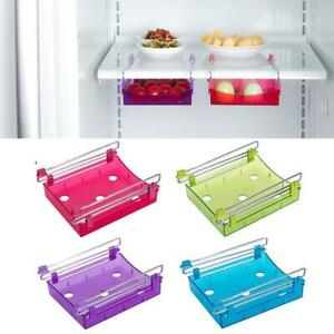Kitchen-Freezer-Fridge-Drawer-Storage-Racks-Holders-Blue-Shelf-Slide-D9B7