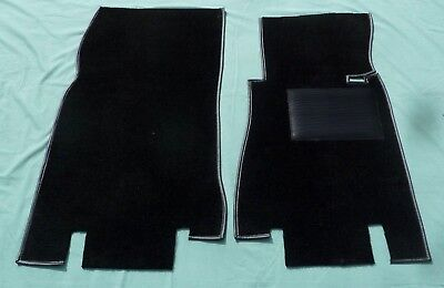 NEW PAIR  MGB ROADSTER GT BLACK 4 SYNC FOOT WELL CARPETS FOOTWELL CARPET RB13