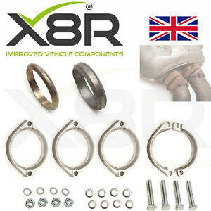 Details about For BMW E46 M3 Exhaust Flange Muffler Back Box Repair Rusted  Flange Clamp Repair