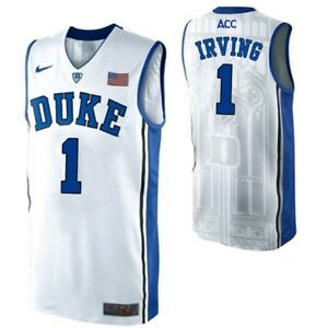 detailing 29b7d bae94 Details about NWT Kyrie Irving Duke Blue Devils #1 Adult Stitched  Basketball Jersey - White