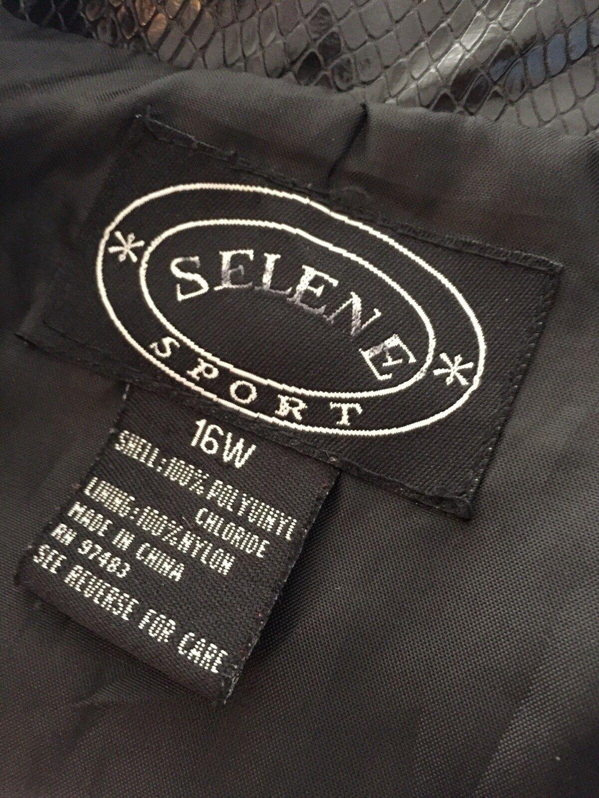 VINTAGE Selene Sport Faux  Snakeskin Jacket Coat … - image 8