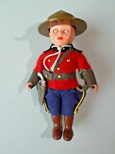"Vintage Rogark Doll Canadian Royal Police 6"" Figure with Sleep Eyes 8847"