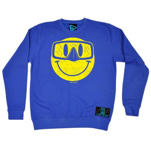 Scuba Diving Sweatshirt Funny Novelty Jumper Top Smiling Goggles Diver