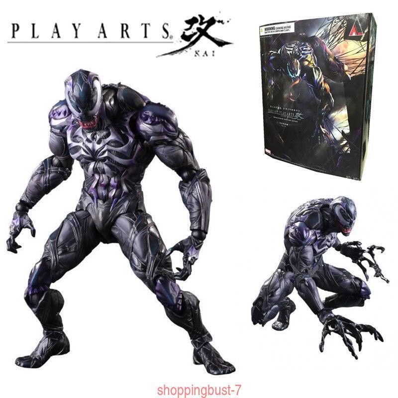 2018 Play Arts Kai Universe Venom spiderman action Statue Jouet en enré