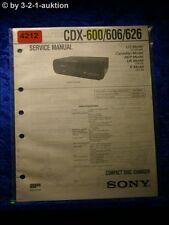 Sony Service Manual CDX 600 /606 /626 CD Changer (#4212)