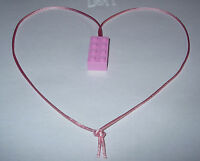 10 Pink Lego Brick Block Necklaces With Pink Cord Nice Girls Party Favor