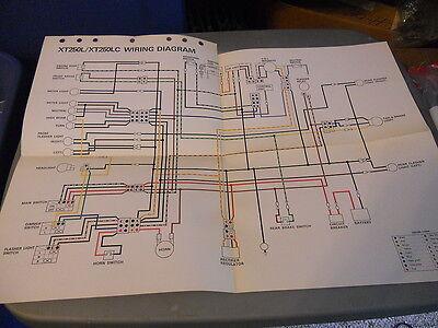 Yamaha Wiring Diagram XT250L XT250LC | eBay