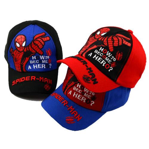 Spiderman Basecap Baseball Cap Kappe Hip Hop Bboy Visor Hut für Kinder Jungen