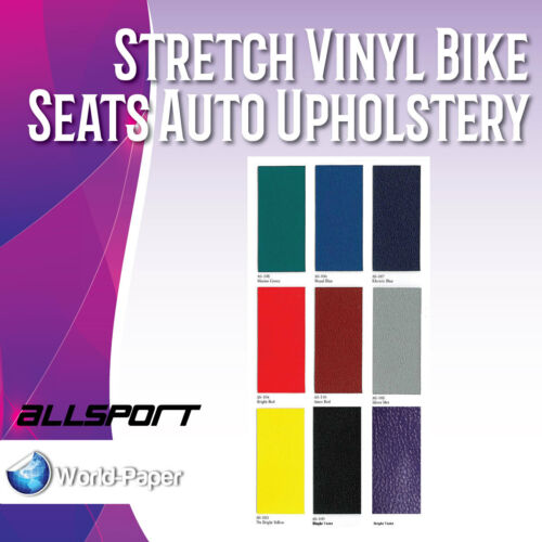Electric Blue Stretch Vinyl Bike Seats Auto Upholstery Allsport by the Yard