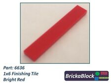 red flat tile 1x6 new new bright red 4x lego 6636 smooth plate