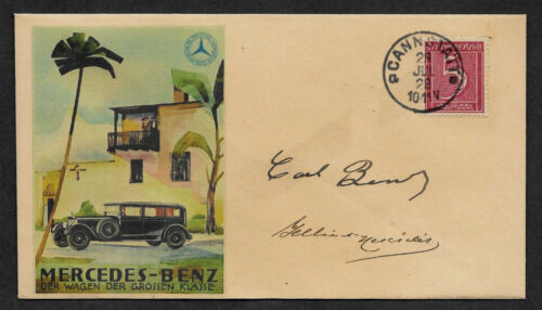 Mercedes-Benz Founders Collector Envelope w Original Period 1920s Stamp *OP1154