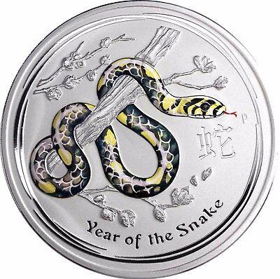 1 Kg Silber Australien Schlange 30 $ 2013 Edelstein Edition in Farbe im Etui
