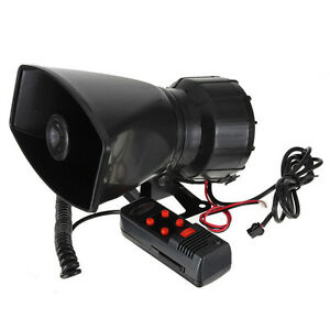 12V-60W-300db-Super-Loud-5-Sound-Tone-Car-Truck-Electric-Air-Horn-Siren-Speaker