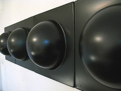 4 Bubble Elemente 70er 60er Style POP ART Wand Bilder Bild rot