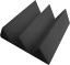 Acoustic-Foam-48pcs-PRO-PACK-Charcoal-GRAY-Wedge12X12x4-034-Soundproof-Studio-tile thumbnail 4