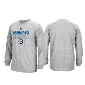 Winnipeg-Jets-NHL-Adidas-Mens-Grey-Climalite-Long-Sleeve-Authentic-Ice-T-Shirt